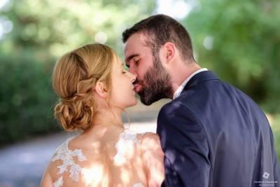 photo de couple avec bokeh