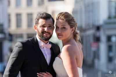 photo de couple dans le vieux Lille