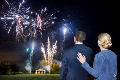 Feux d'artifice soirée de mariage