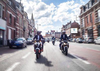 Marié en moto